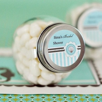 Personalized Mini Candy Jars - Beach Party Favors