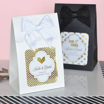 Personalized Metallic Foil Candy Boxes (set of 12)