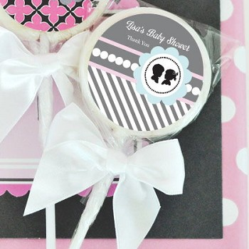 Gender Reveal Party Personalized Lollipop Favors