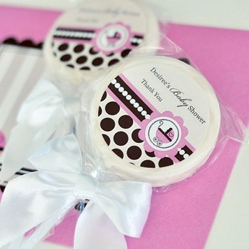 Personalized Lollipop Favors - Pink Baby Shower Favors
