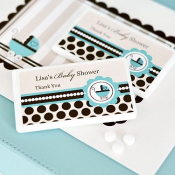 Personalized Mini Mint Favors - Blue Baby
