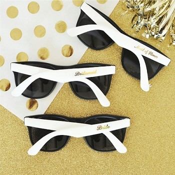 White Bridal Shower Party Sunglasses (set of 6)