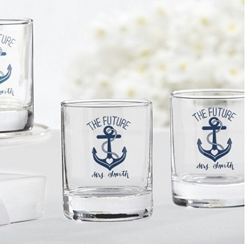 Nautical Anchor Personalized Shot Glass (3.5 oz) - The Future Mrs