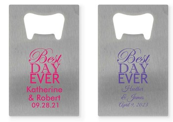 Personalized Credit Card Bottle Opener - Best Day Ever