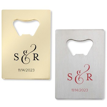 Classic Monogram  Personalized Credit Card Bottle Opener