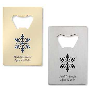 Snowflake Bottle Openers - Credit Card Design