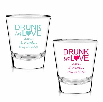 Drunk In Love Personalized Shot Glasses (1.75 oz)