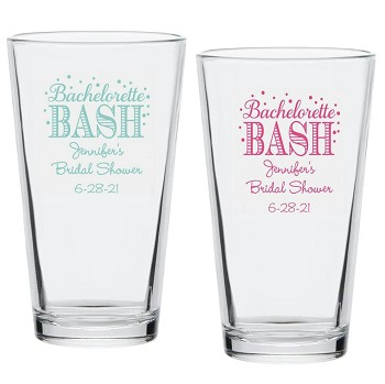 Bachelorette Bash Personalized Pint Glass (16 oz)