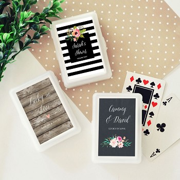 Personalized Playing Cards - Floral Garden
