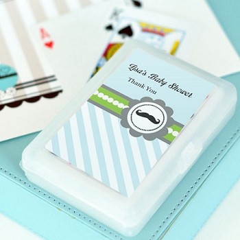 Little Man Party Personalized Playing Cards