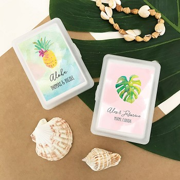 Personalized Tropical Beach Playing Cards