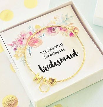 Bridesmaids Gold Monogram Bracelet