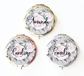 Personalized Rose Garden Compact Mirror