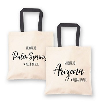 State Canvas Welcome Tote Bags