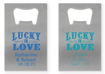 Personalized Credit Card Bottle Opener - Lucky In Love