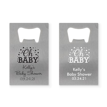 Personalized Credit Card Bottle Opener - Oh Baby