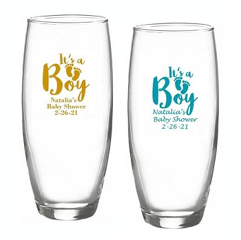 It's A Boy Personalized Champagne Glasses (9 oz)