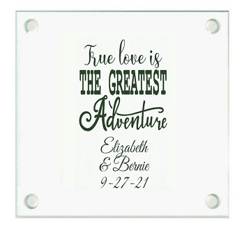 True Love Personalized Wedding Coasters