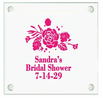 Floral Bouquet Personalized Coasters