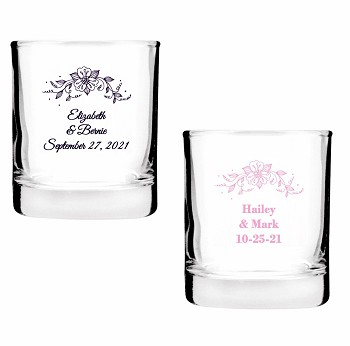 Rustic Flower Bouquet Shot Glasses (2 oz)