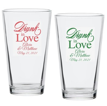 Drunk In Love Personalized Pint Glass (16 oz)