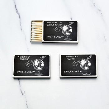 Wedding Matchbox Favors - Travel & Adventure (Set of 50)