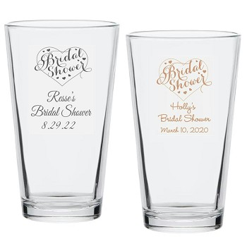 Bridal Shower Party Personalized Pint Glass (16 oz)