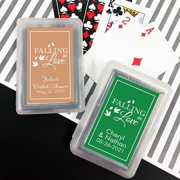 Falling in Love Playing Cards with Personalized Stickers