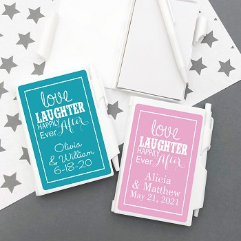 Love Laughter Happily Ever After Personalized Notebook Travel Journal
