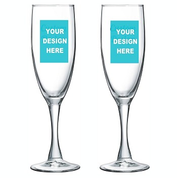 Personalized Champagne Flute Custom Print