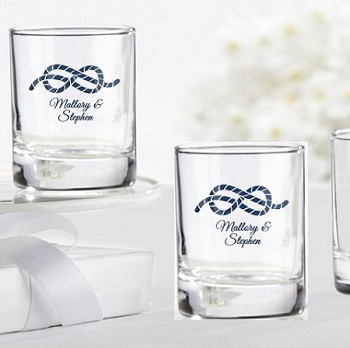 Nautical Rope Personalized Shot Glasses (3.5 oz)