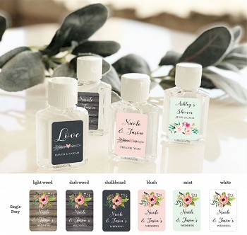 Single Posy Personalized Hand Sanitizers
