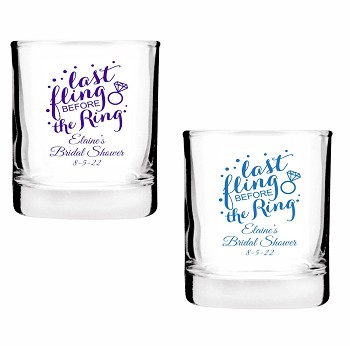 Last Fling Before The Ring Shot Glass Votive Candle Holders (2 oz)