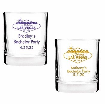Las Vegas Sign Shot Glass Votive Candle Holders (2 oz)