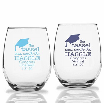 The Tassel Was Worth the Hassle Stemless Wine Glass (9 oz or 15 oz)