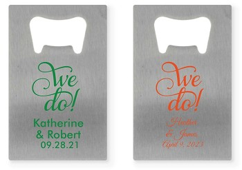 Personalized Credit Card Bottle Opener - We Do